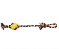 Веревка цветная с мячом 43см Triol